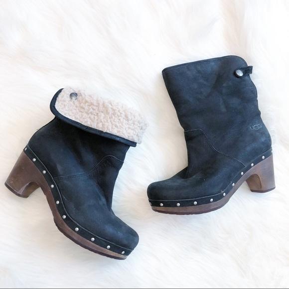 868569fd0cb Ugg Lynnea Black Suede Ankle Boot